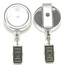 Retractable Key Reel inc Belt Clip & Stainless Steel Cord & Crocodile Clip