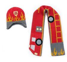 Promo Kidorable Kids Red Knitted Fireman Scarf & Hat Boys Knitwear Winter Set
