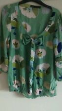 Good condition Next size 14 green floral top 3/4 sleeved