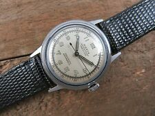 Mens Vintage Military Style PIERCE Manual Wind Wristwatch Swiss Made