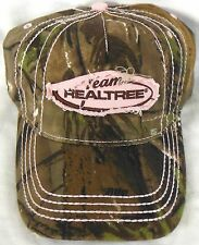 Womens Ladies Team Realtree Full Camo Pink Stitching Rugged Look Hunting Hat Cap