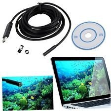 7mm 6 LED USB Waterproof Endoscope Borescope Tube Inspection Video Camera 5M AO