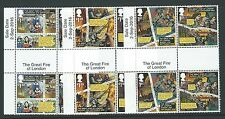 GREAT BRITAIN 2016 GREAT FIRE OF LONDON GUTTERS WITH DATES AND TITLES UNMOUNTED