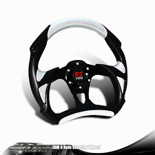 320MM TYPE-A 6-Hole Black / Silver PVC Leather Racing Steering Wheel For MUSTANG