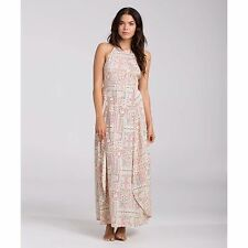 2016 NWT WOMENS BILLABONG LOVE TRIPPIN MAXI DRESS $70 M multicolor halter neck