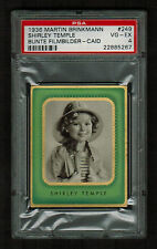 PSA 4 SHIRLEY TEMPLE 1936 Caid Greiling Cigarette Card #249