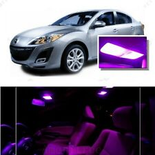 For Mazda 3 2014-2016 Pink LED Interior Kit + Pink License Light LED