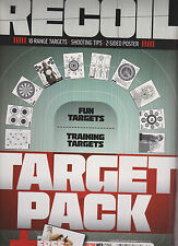 RECOIL MAGAZINE WINTER 2013, 10 RANGE TARGET PACK, SHOOTING TIPS, 2-SIDED POSTER