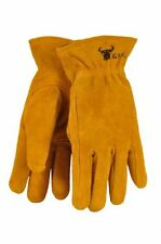 G and F 5013L Kids Leather Work Gloves for 7-9 years Old, Brown , New, Free Ship