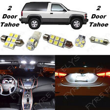22x White LED lights interior package + Gauge cluster 1992-1999 Tahoe/Yukon CT5W