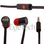 HTC In Ear Kopfhörer ONE m8 Headset Schwarz Rot RC-E295 für HTC NEU