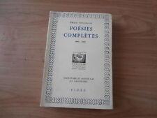 1952 Emile Neligan Poesies Completes - Nenuphar Ed Fides
