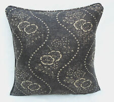 Ralph Lauren Fabric  Cushion Cover 'Etienne Floral' Vintage Black 100% Linen
