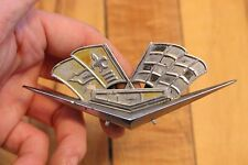 OEM Vintage 1962 1963 Chevrolet Corvette Racing Flag Fender Emblem Chevy Badge