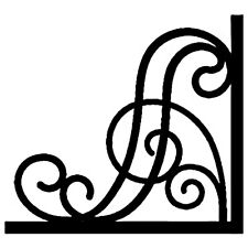 """4 LARGE  CUT VINYL DECAL  FOR MIRROR / FRAME / CORNER DECORATION STYLE2 -8"""" X 8"""""""