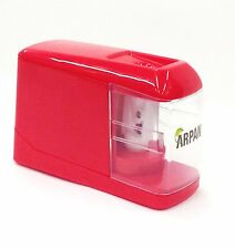 RED Automatic Electric Battery / USB Operated Desktop Pencil Sharpener -JDRD