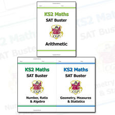 KS2 Maths SAT Buster Collection By CGP Books 3 Books Set 2016 SATS & Beyond NEW