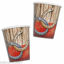 8 Wild West Rodeo Cowboy BBQ Children's Party Disposable 9oz Paper Cups