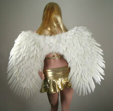 SUPER LARGE White Feather Costume Angel halloween costume Wings Free HALO Fairy