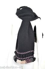 ALEXANDER McQUEEN OVERSIZED KNIT HEAVY WEIGHT WOOL AND ANGORA UNISEX SCARF
