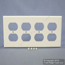Leviton White Residential 4-Gang Outlet Cover Duplex Receptacle Wallplate 88041