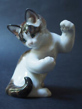 HTF Rosenthal Karner Cat Kitten Kitty Playful Paws Up Standing Figure Perfect FC