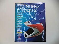 advertising Pubblicità 1988 CASCO HELMET FM FIMEZ THUNDER ENDURO CROSS