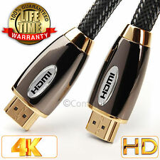 5 Meter Braided Ultra HD Premium HDMI Cable V2.0 High Speed Ethernet 2160p 4k 3D