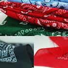 Colorful Paisley Bandana Head Cotton Wrap Neck Scarf Wristband Handkerchief