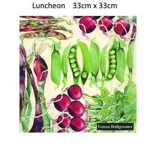 Emma Bridgewater Vegetable Garden Pack of 20 Disposable 3 Ply Lunch Paper Napkin