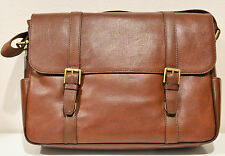 Fossil Men's Leather Estate EW Messenger Bag Cognac MBG9153222