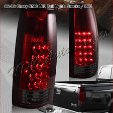 For 1988-1999 GMC C/K C10 1500 2500 3500 LED Red / Smoke Lens Tail Lights Lamps