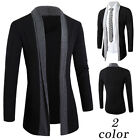 Luxury Men Fashion Knitted Cardigan Jacket Slim Long Sleeve Casual Sweater Coat