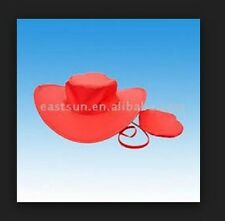 NWT RED POP UP HAT TWISTS & FOLDS INTO POUCH **PERFECT CHRISTMAS GIFT***