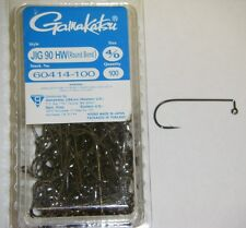 GAMAKATSU JIG HOOKS  HEAVY WIRE 90 DEGREE ROUND BEND HW #60414-100 4/0 100 PACK