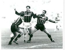 1992 VAN BASTEN BERGOMI foto originale MILAN INTER 1-1 Derby campionato
