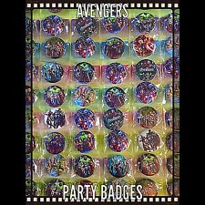 The Avengers Birthday Party Badges Set Of 15. Party Bag Fillers