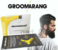 GROOMARANG Beard Symmetry Comb Trimming Facial Hair Styling & Shaping Template