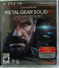 New Metal Gear Solid V(5) Ground Zeroes Sony PlayStation 3 PS3 Sealed