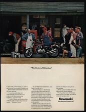 1974 KAWASAKI Z-1 Motorcycle - Mom & Pop Grocery Store & Gas Station VINTAGE AD