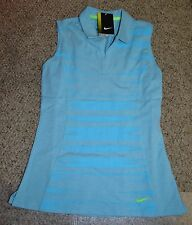 NIKE GOLF WOMEN'S  RACERBACK SLEEVELESS GOLF POLO SHIRT 640367-401 SZ Small BLUE