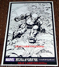 WOLVERINE ORIGINAL ART PRINT POSTER SIGNED DANNY MIKI DAVID FINCH 11X17 MARVEL