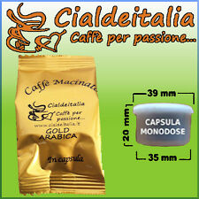 100 capsule caffè CialdeItalia NEW GOLD ARABICA - Comp. Lavazza Espresso Point