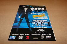 ZIZI JEANMAIRE - GAINSBOURG - RARE FLYER!!!!!!!!!!!!!!!