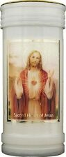 SACRED HEART OF JESUS DEVOTIONAL HOLY CANDLE 100's OF STATUES & PICTURES LISTED