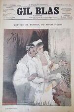 JOURNAL GIL BLAS N° 17 de 1892 PREVOST DESSIN STEINLEN PARTITION MUSIQUE XANROF