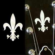 Fleur de Lys Guitar Headstock Inlay Sticker Decal In MOP Theme
