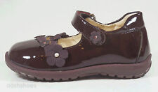 Primigi Girls Shoes UK 7.5 EU 25 US 8 Prune Patent Leather Velcro Strap Ariad