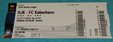Ticket for collectors EL HJK Helsinki FC Copenhagen 2014 Finland Denmark