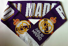 REAL MADRID Football Scarf New Purple from Superior Acrylic Yarns